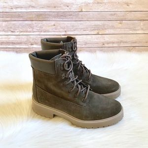 """Timberland Carnaby Cool 6"""" Olive Suede Boots"""